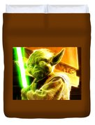 Magical Yoda Duvet Cover by Paul Van Scott
