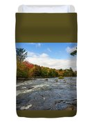 Magnetawan River In Fall Duvet Cover