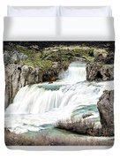 Magnificence Of Shoshone Falls Duvet Cover