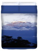 Magnificent Mount Kilimanjaro Duvet Cover