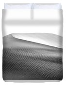 Magnificent Sandy Waves On Dunes At Sunny Day Duvet Cover