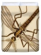 Magnified Mosquito Duvet Cover