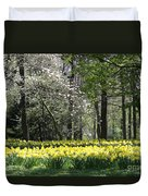 Magnolia And Daffodils Duvet Cover