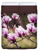 Magnolia Blooming In An Early Spring Duvet Cover