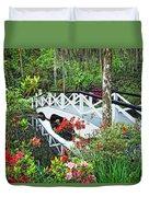Magnolia Bridge Duvet Cover