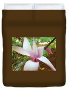 Magnolia Flowering Tree Art Prints White Pink Magnolia Flower Baslee Troutman Duvet Cover