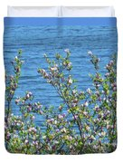 Magnolia Flowering Tree Blue Water Duvet Cover