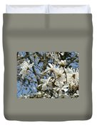 Magnolia Flowers White Magnolia Tree Flowers Art Prints Duvet Cover
