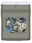Magnolia Flowers White Magnolia Tree Flowers Art Prints Duvet Cover