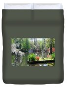Magnolia Gardens In Charleston Duvet Cover