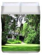 Magnolia Plantation Back Entrance Duvet Cover