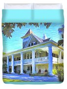 Magnolia Plantation House Duvet Cover