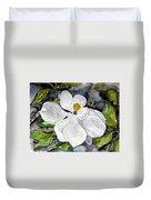 Magnolia Tree Flower Duvet Cover
