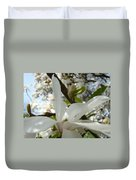 Magnolia Tree Flowers Art Prints White Magnolia Flower Duvet Cover