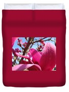 Magnolia Tree Pink Magnoli Flowers Artwork Spring Duvet Cover