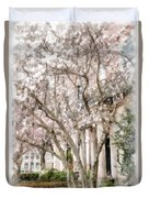 Magnolias In Back Bay Duvet Cover