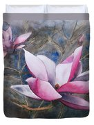 Magnolias In Shadow Duvet Cover