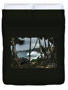 Mahama Lauhala Keanae Peninsula Maui Hawaii Duvet Cover