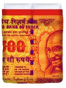 Mahatma Gandhi 500 Rupees Banknote Duvet Cover