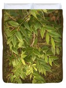 Mahogany Leaves On A Branch Duvet Cover