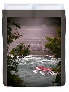 Maid Of The Mist Canadian Boat Duvet Cover