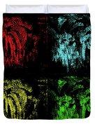 Maidenhair Ferns Pop Art Duvet Cover