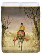Mail Cart Christmas Duvet Cover