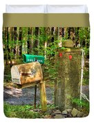 Mailbox On The Rural Country Road Duvet Cover