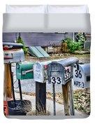 Mailboxes Duvet Cover