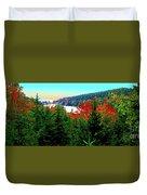 Maine Long Pond Acadia  Duvet Cover