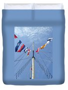 Main Mast Of Ss Great Britain At Bristol England Duvet Cover