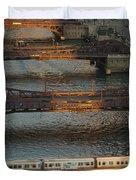 Main Stem Chicago River Duvet Cover by Steve Gadomski