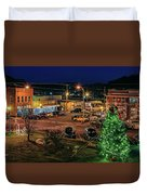 Main Street Christmas Duvet Cover