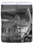 Main Street Station Nw B W Duvet Cover by Jemmy Archer
