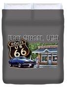 Main Street, Usa Camaro Duvet Cover