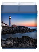 Maine Coastline Sunrise Duvet Cover
