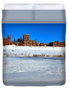 Maine Criminal Justice Academy In Winter Duvet Cover