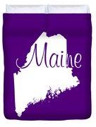 Maine In White Duvet Cover
