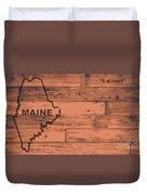 Maine Map Brand Duvet Cover