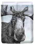 Maine Moose Duvet Cover