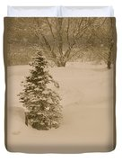 Maine Snowy Day Duvet Cover