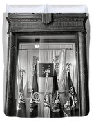 Maine State Capitol Hall Of Flags Modern Conflicts Display Case Duvet Cover