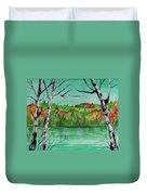 Maine's Autumn Finery Duvet Cover