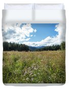 Maisie In A Field Of Flowers Duvet Cover