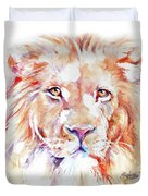 Majestic African Lion Duvet Cover