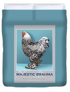 Majestic Brahma Silver Spangled Duvet Cover