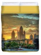 Majestic Gold Midtown Atlantic-station Atlanta Sunrise Art Duvet Cover