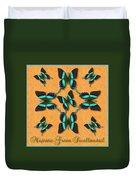 Majestic Green Swallowtail Wheel Duvet Cover