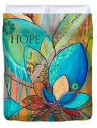 Spirit Lotus With Hope Duvet Cover by TM Gand