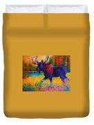 Majestic Monarch - Moose Duvet Cover